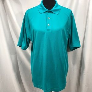 Grandslam Turquoise Ribbed Polo Shirt
